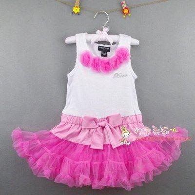 ♔公主城堡♔粉紅公主蛋糕裙/澎澎裙/洋裝