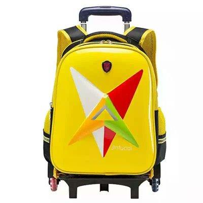 2017小學生書包拉桿(可拆卸)兒童書包行李箱雙肩包 6輪護脊360度反光安全可當拖車 828元