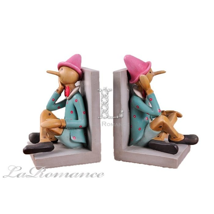 【芮洛蔓 La Romance】 德國 Heidi 童趣家飾 - 彩色小木偶書擋 / 童趣擺飾 / 小孩房、兒童房、書房