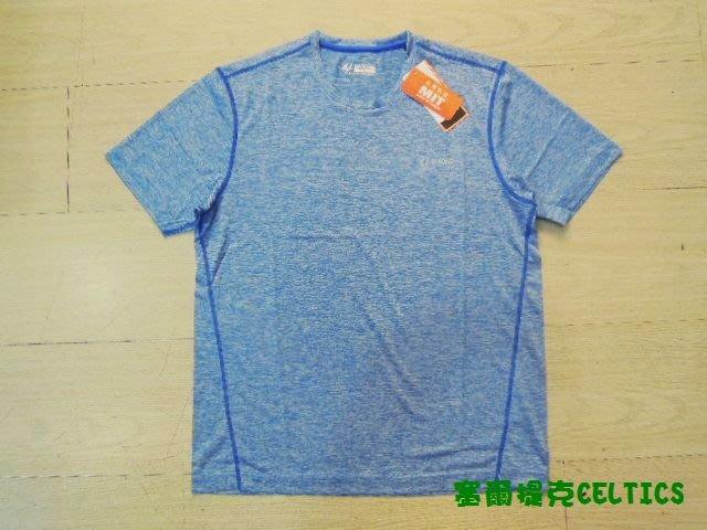 塞爾提克~UNIONE 男生 機能吸濕快排 短袖T恤 運動衣服(天藍-四針車縫邊線)直購390.MIZUNO參考