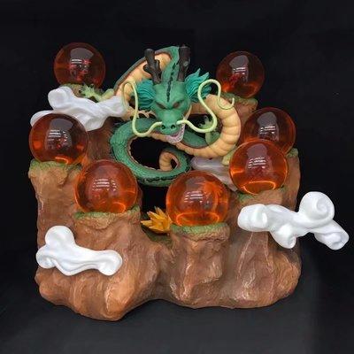 七龍珠水晶球山體召喚神龍場景底座模型 一整組 場地大龍諸神龍3個