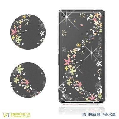 【WT 威騰國際】WT® Sony Xperia XA 施華洛世奇水晶 彩繪空壓殼 -【楓彩】