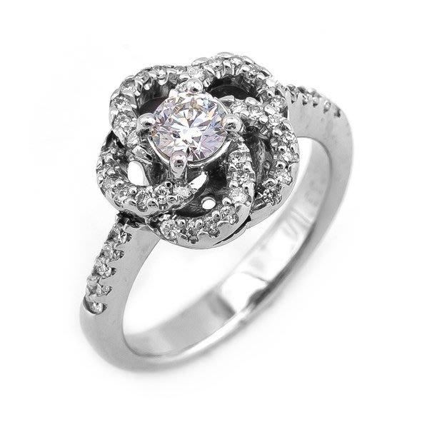 【JHT 金宏總珠寶/GIA鑽石專賣】0.33ct天然鑽石戒指/材質:18K(D000165)