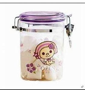 統一阪急百貨 紫色限定 open將 壓克力密封罐 收納罐(大) 800ml