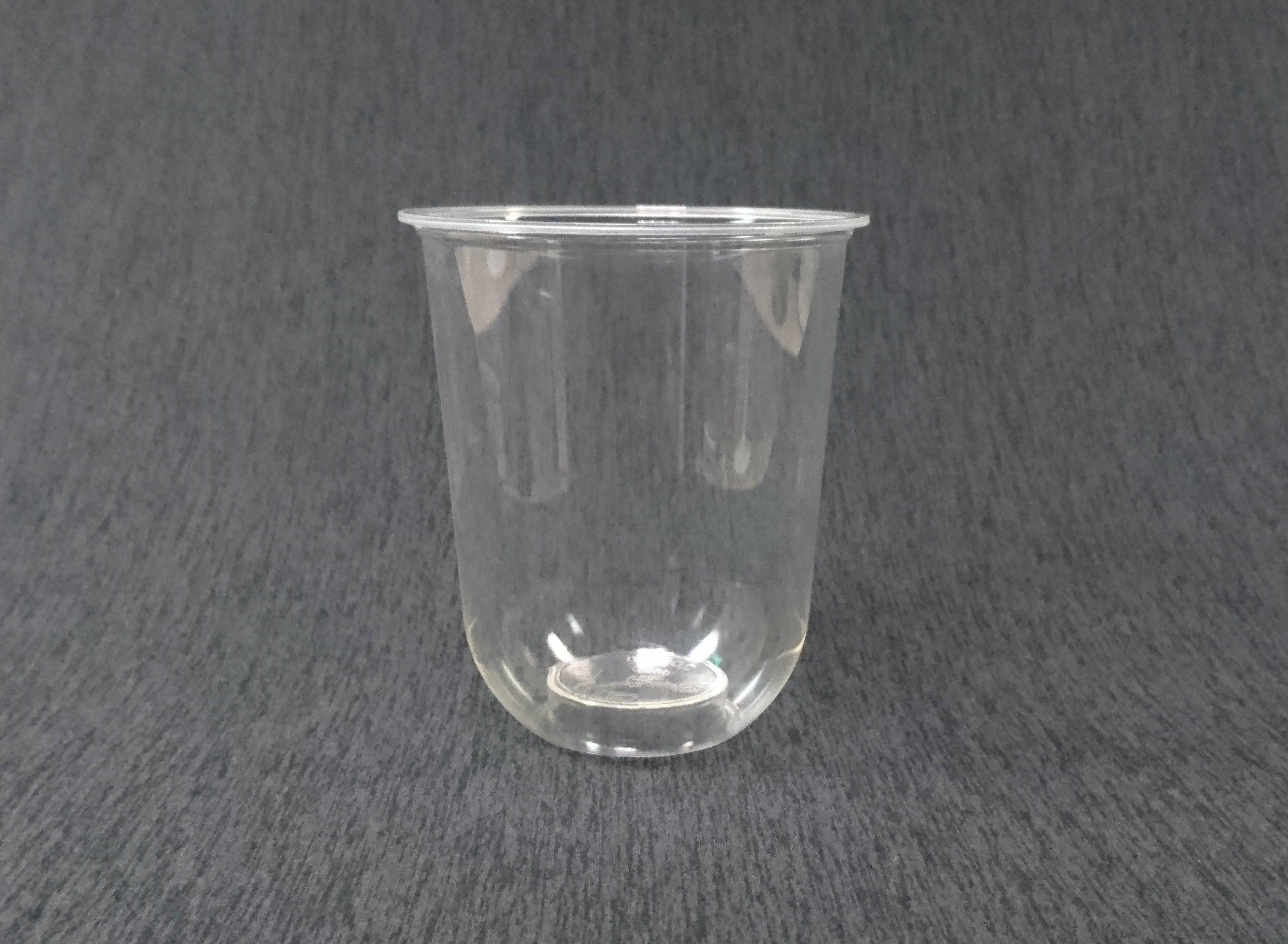 100個 外銷歐美熱賣款【PP Q500 捲邊冷飲杯】U形杯 透明杯 塑膠杯 平面杯 啤酒杯 冰砂杯 冷熱杯