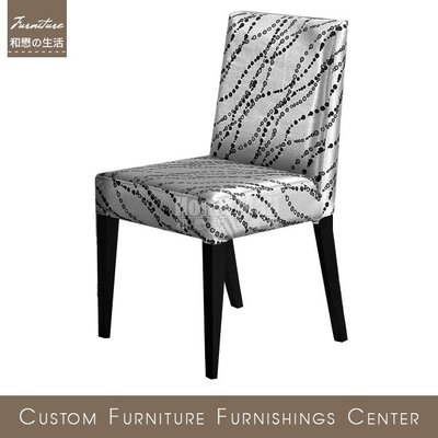 HOME MALL~艾希利銀色餐椅(可拆洗)$2500元(雙北市免運費)6N