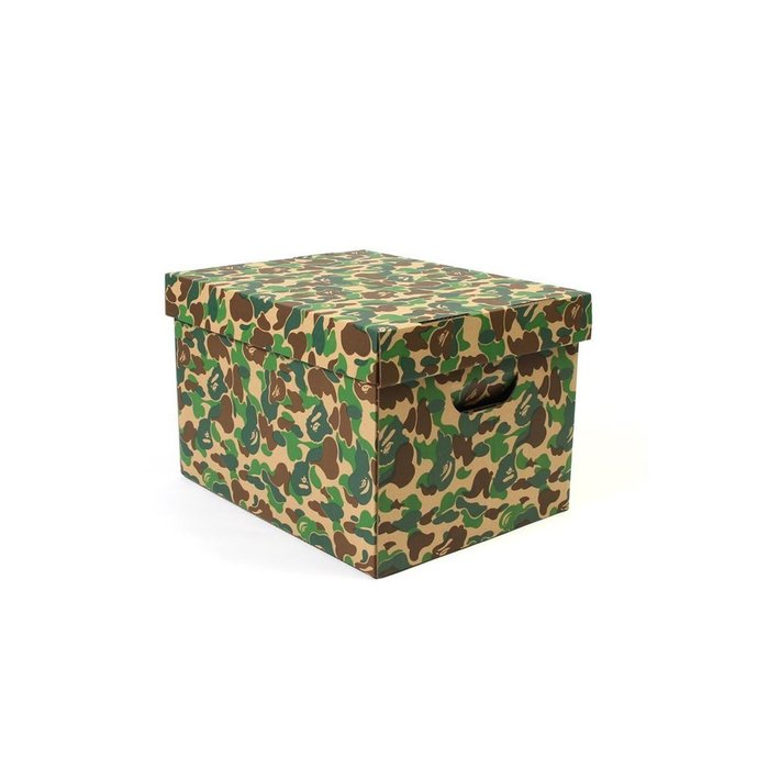 車庫服飾 現貨 BAPE BY A BATHING APE ABC CAMO STORAGE BOX 迷彩紙箱