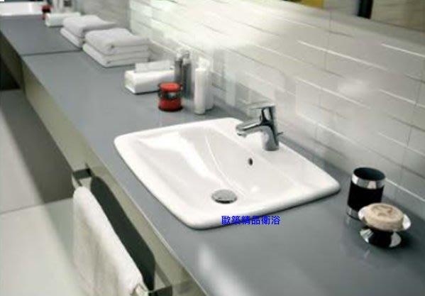 【歐築精品衛浴】KERAMAG《德國》✰Levada系列上崁式面盆-55cm