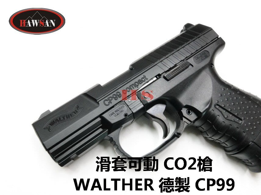 WALTHER 德製 CP99 COMPACT 4.5MM CO2槍 滑套可動
