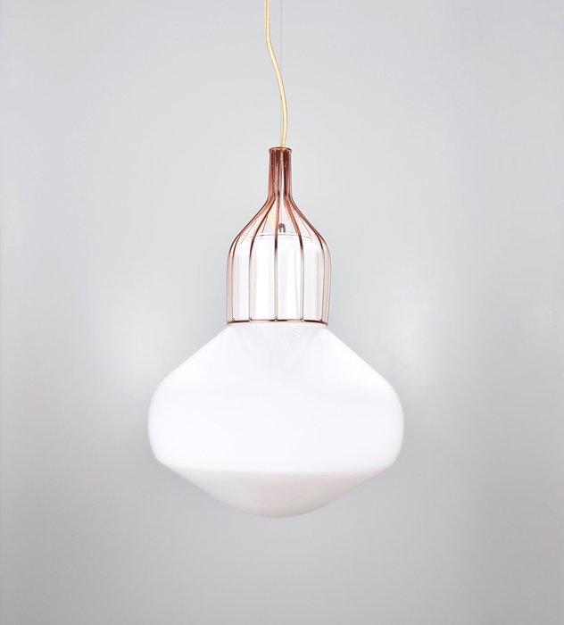 白玉紅銅吊燈-BNL00116
