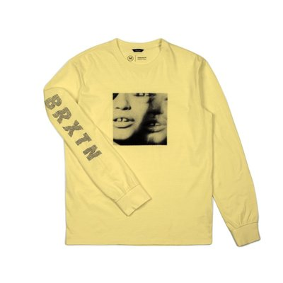 《Nightmare 》Brixton LENS L/S STANDARD TEE WASHED YELLOW