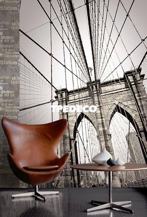 【大台北裝潢】美國Seabrook進口壁紙CT* 大型主題壁畫 BROOKLYN BRIDGE 布魯克林大橋