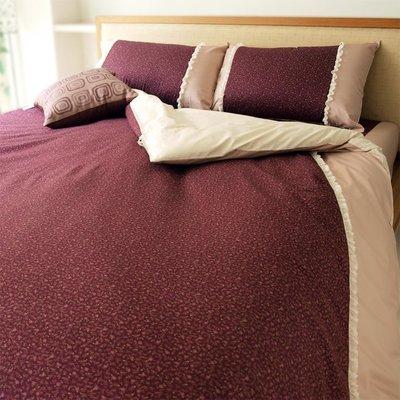 《OUTLET》-麗塔LITA- 40支純綿【百花綻放-嫣紅】雙人床包枕套三件組