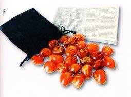 【預馨緣塔羅鋪】現貨正版紅玉隨如恩石Red Carnelian Runes(全新25顆)