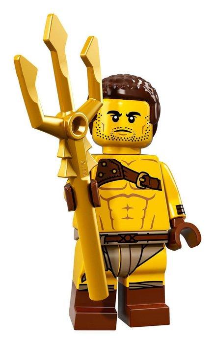 【LEGO 樂高】2017最新 積木/ Minifigures人偶包系列:17代 71018   #08 羅馬角鬥士