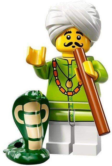 【LEGO 樂高】益智玩具 積木/ Minifigures人偶系列: 13代人偶包 71008 | 舞蛇人+眼鏡蛇+長笛