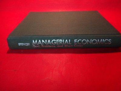 【愛悅二手書坊 28-04】Managerial economics : text, problems, and