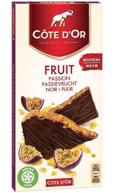 比利時代購巧克力-Cote d'Or 比利時大象牌百香果巧克力片,買10片送1片,另有提供86%黑巧克力供顧客選購。