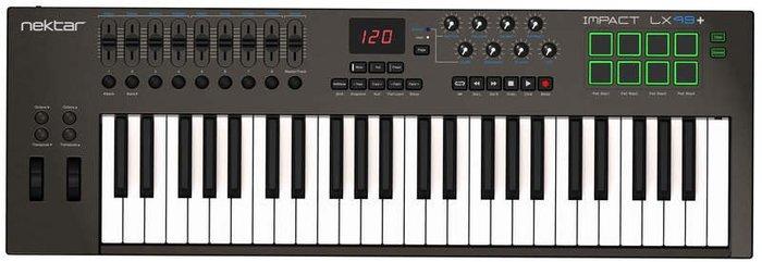 【金聲樂器】Nektar Impact LX49+ MIDI 控制鍵盤 49鍵 Midi Keyboard LX49