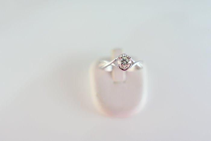 [吉宏精品交流中心]50分 南非天然鑽石 白K金 造型 戒指