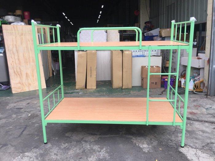 非凡精品家具 全新 馬卡龍綠 3尺雙層鐵床*實木上下舖*上下床*子母床*單人床架