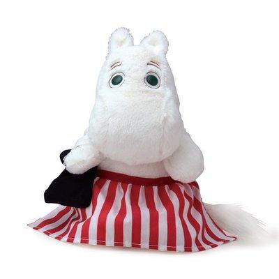 尼德斯Nydus~* 日本正版 嚕嚕米 Moomin 姆明 絨毛玩偶 娃娃 紅色條紋裙 約20cm