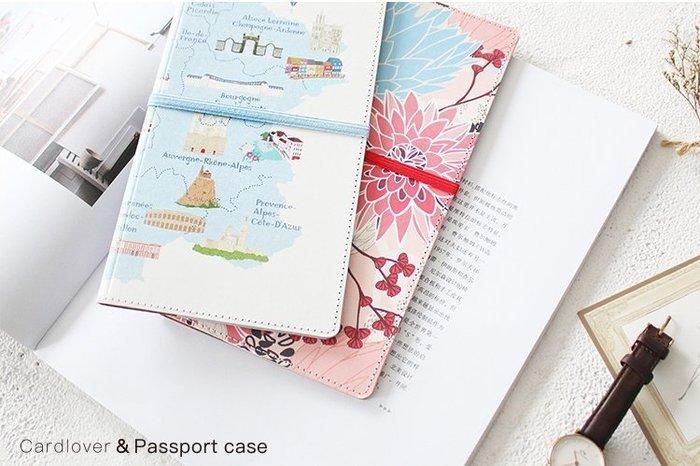米塔手帳~Mita~~#273019~護照夾 ~ 旅行地圖 白色  收納整理 可放旅遊筆記