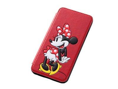 尼德斯Nydus~* 日本正版 Disney 迪士尼 米妮 立體 皮套 翻頁式 手機殼 iphone6 4.7吋