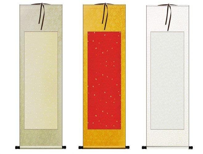 Art in THE【傑儒書畫】三尺空白掛軸 宣紙全綾布四尺對開橫幅 國畫書法 書畫卷軸對聯橫批裱畫軸 43x155cm