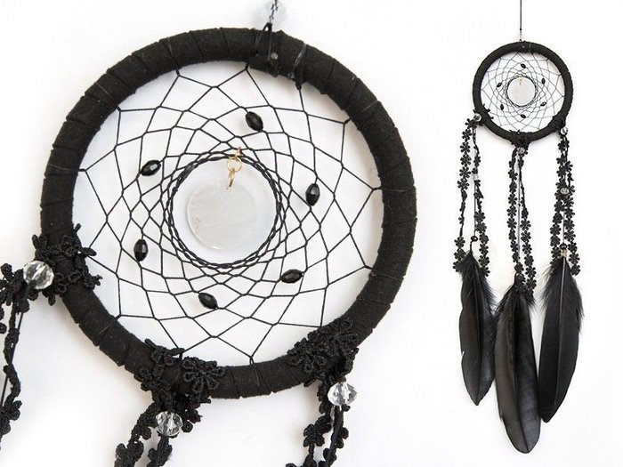 捕夢網 DIY材料包✿黑色✿低調神祕風格『繼承者們款式』聖誕節禮物、情人節禮物、交換禮物、生日禮物、畢業禮物