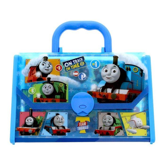 湯瑪士小火車 豐富文具手提包 內附蠟筆畫紙貼紙 日本正版商品