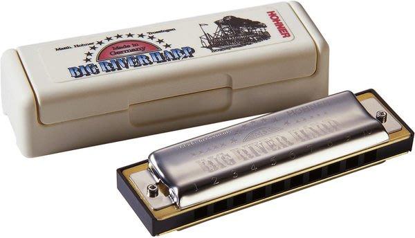 【六絃樂器】全新德國製 Hohner 590/20 Big River Harp 民謠口琴 / 現貨特價