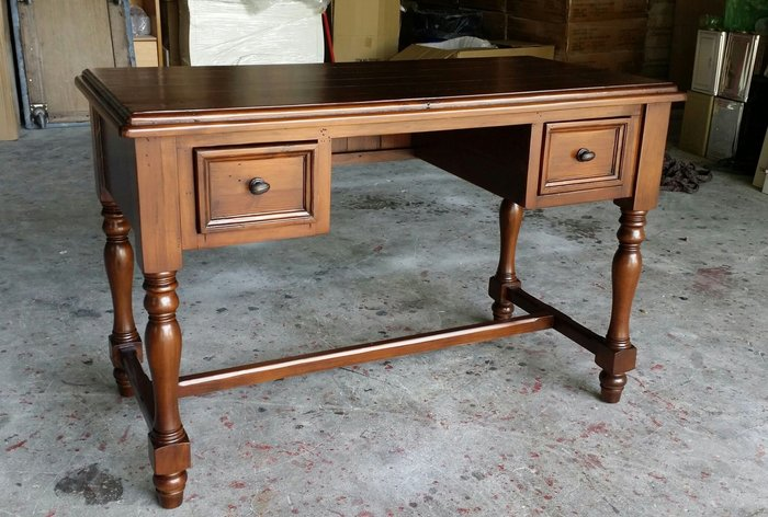 美生活館---全新美式 鄉村風格 越南進口 全原木鄉村 書桌 寫字桌 工作桌 --超厚實木復古破壞處理