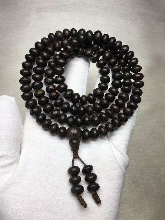 算盤珠型108顆沉香項鍊