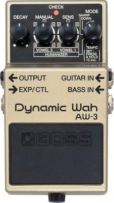 ☆ 唐尼樂器︵☆ BOSS  AW-3 Dynamic Wah 動態 哇哇 效果器 AW-3