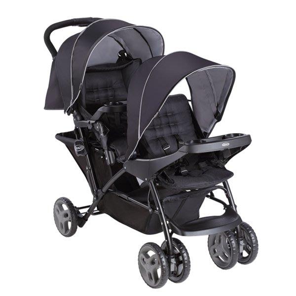GRACO-雙人前後座嬰幼兒手推車-城市雙人行Stadium Duo(探險黑)2054933