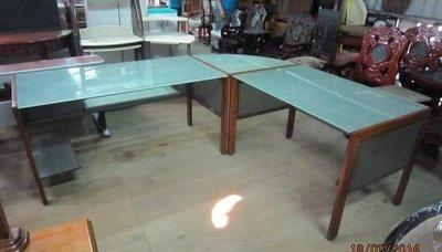 ㊖華威搬家=更新二手倉庫㊖中古L型辦公桌主管桌玻璃電腦桌 寄倉收購回收二手家具