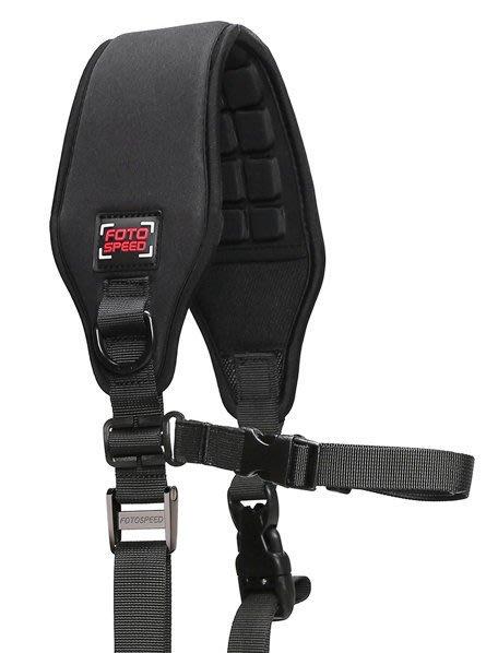 呈現攝影-美國FOTOSPEED F1 新版 三角型快速單肩背帶 金屬扣具 直上腳架 快槍俠 減壓背帶 BlackRap