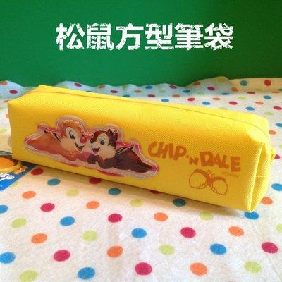 台灣迪士尼授權松鼠筆袋 奇奇蒂蒂筆袋 鉛筆盒 方型筆盒 收納袋 化妝包