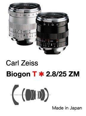 @佳鑫相機@(全新)Zeiss蔡司 ZM Biogon T* 25mm F2.8 (黑)Leica M用 公司貨特價中!