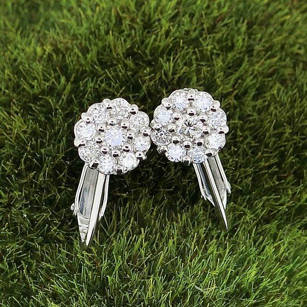 【JHT金宏總珠寶/GIA鑽石專賣】天然鑽石耳環 D:0.27ct X2 PT900/14K (JB33-B24)