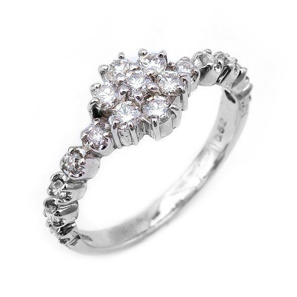 【JHT 金宏總珠寶/GIA鑽石專賣】0.52ct天然鑽石造型戒指/材質:PT900(JB17-14)