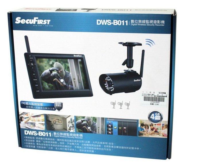 喬格電腦 一機四鏡 另送32G SD卡~SecuFirst 數位無線監視錄影機DWS-B011Z