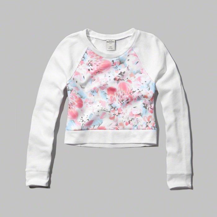 【880含運】A&F abercrombie floral graphic sweatshirt長袖T恤KIDS XL