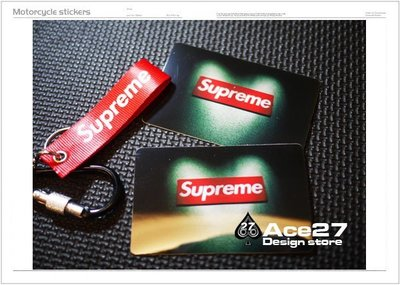 [ACE27 艾斯设计]supreme 红BOX 爱心 mmJ 卡贴 行李箱贴 潮流贴  APE 防水贴