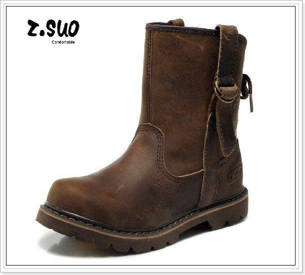 『黑餃ㄇㄇ』【CZ006】Z.SUO正品 上等牛皮登山靴  馬丁靴 情侶款 超耐穿