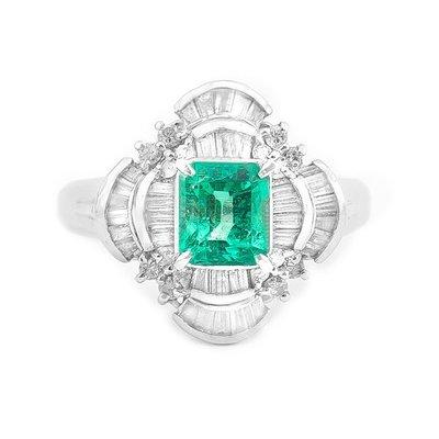 【JHT 金宏總珠寶/GIA鑽石專賣】0.91ct天然祖母綠鑽戒/材質;PT900(JB22-BR42)