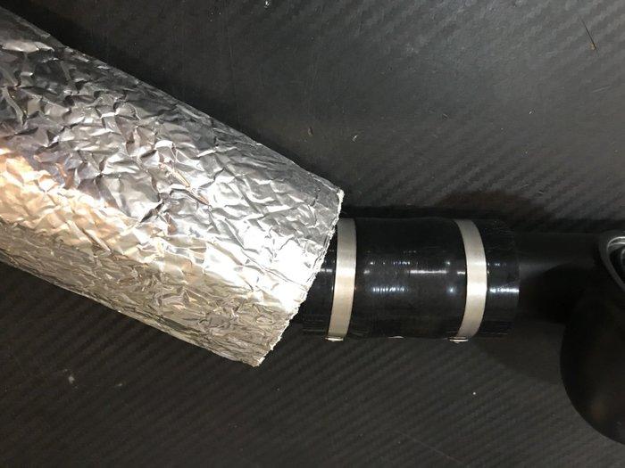 ☆光速改裝精品☆耐高溫 錫箔隔熱管套 玻璃纖維 300度 包覆帶 寬10CM~50公分