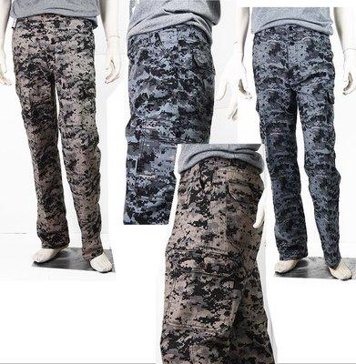 【肚子大】B756-休閒工作褲-格紋迷彩-前後側口袋-彈力布料!28吋-40吋#3件990