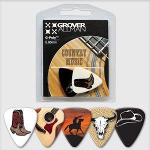 ☆ 唐尼樂器︵☆澳洲 Grover Allman 主題系列『Country Music』烏克麗麗/木吉他/電吉他 Pick 彈片